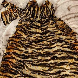 D&G Silk Animal Printed Top
